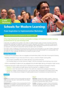 Announcing: Schools for Modern Learning Workshops in Australia