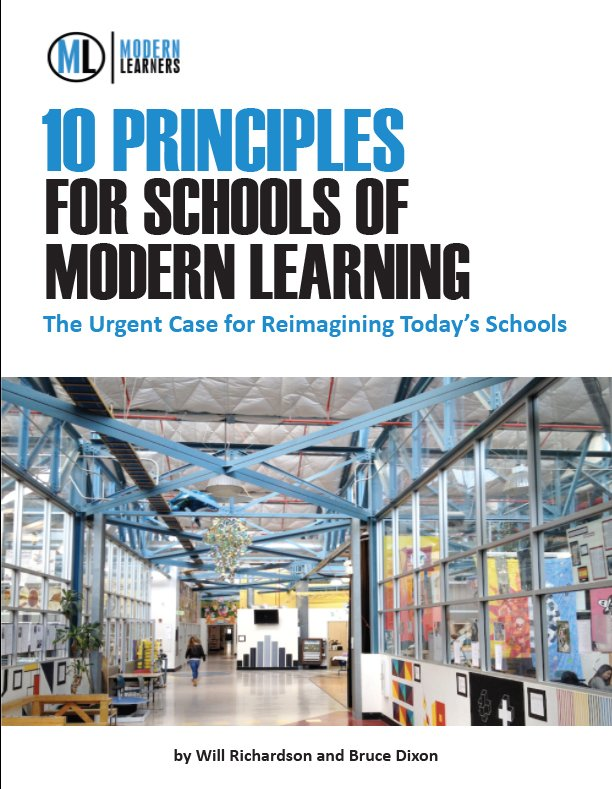 10 Principles for schools of modern learning cover
