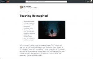 Modern Learners Community screen - blog