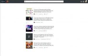 Modern Learners Community Posts Screen