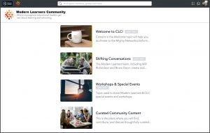 Modern Learners Community screen - thumbnails