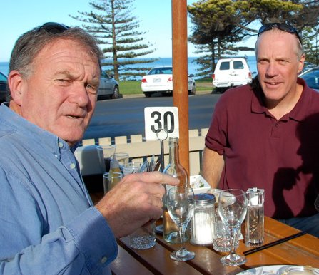 Bruce and Will lunch in Australia